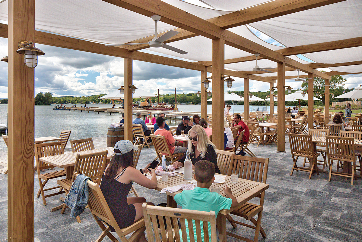 View of Canadaigua Lake from the outside patio area