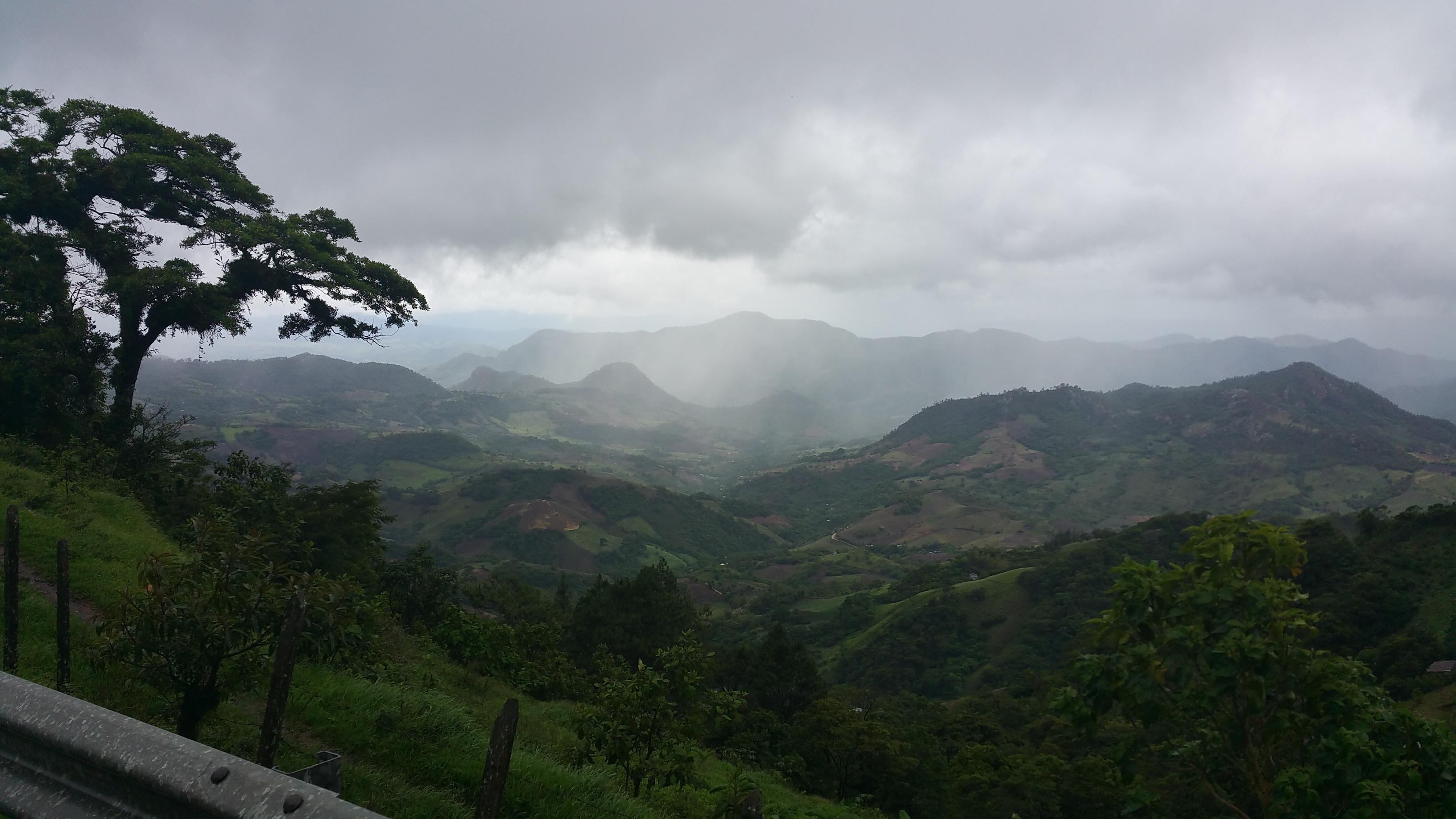 Nearly 4,000 feet above sea level, rainy season was in full swing in El Mojon, NI.