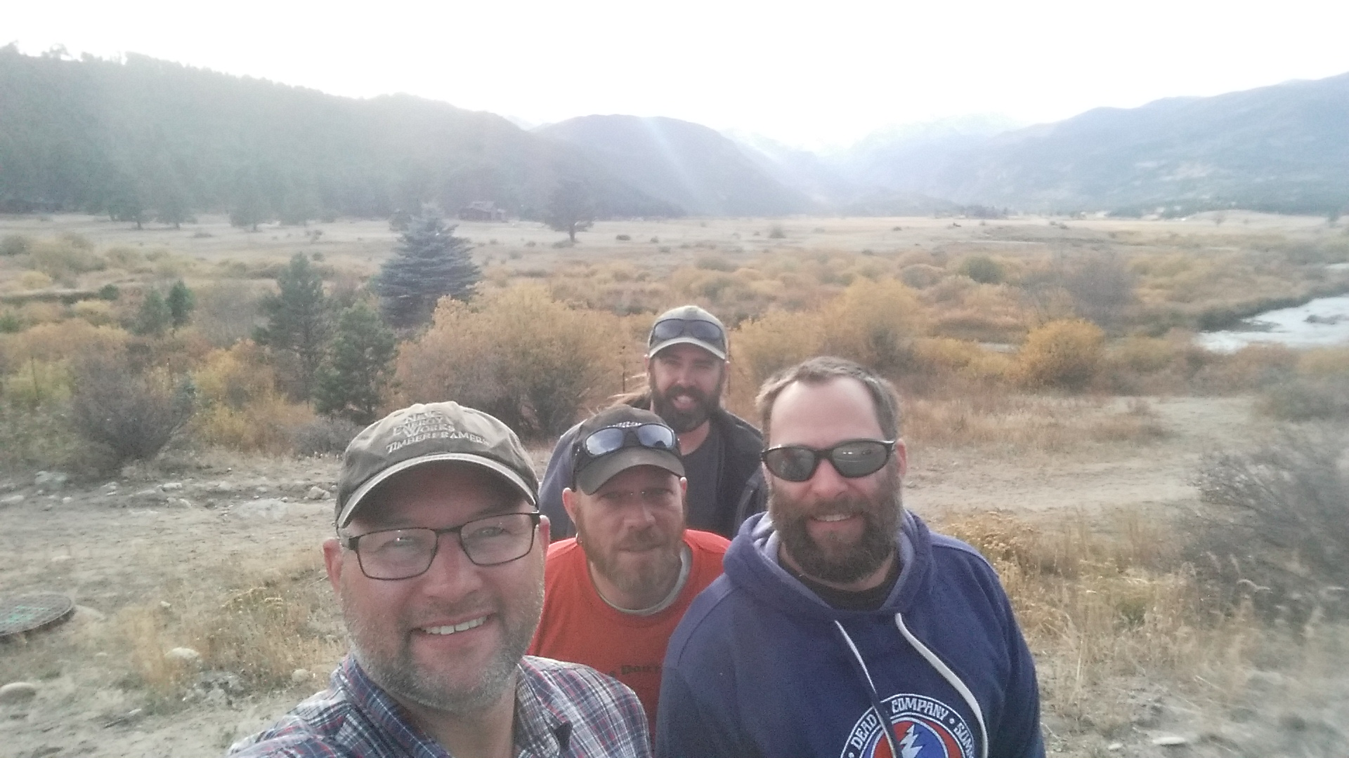 Leaving the frame to check out the region. Darren, Mike, Jimmy, and Todd.