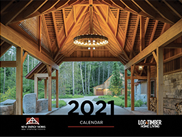 2021 Timber Home Calendar by New Energy Works and Log & Timber Living