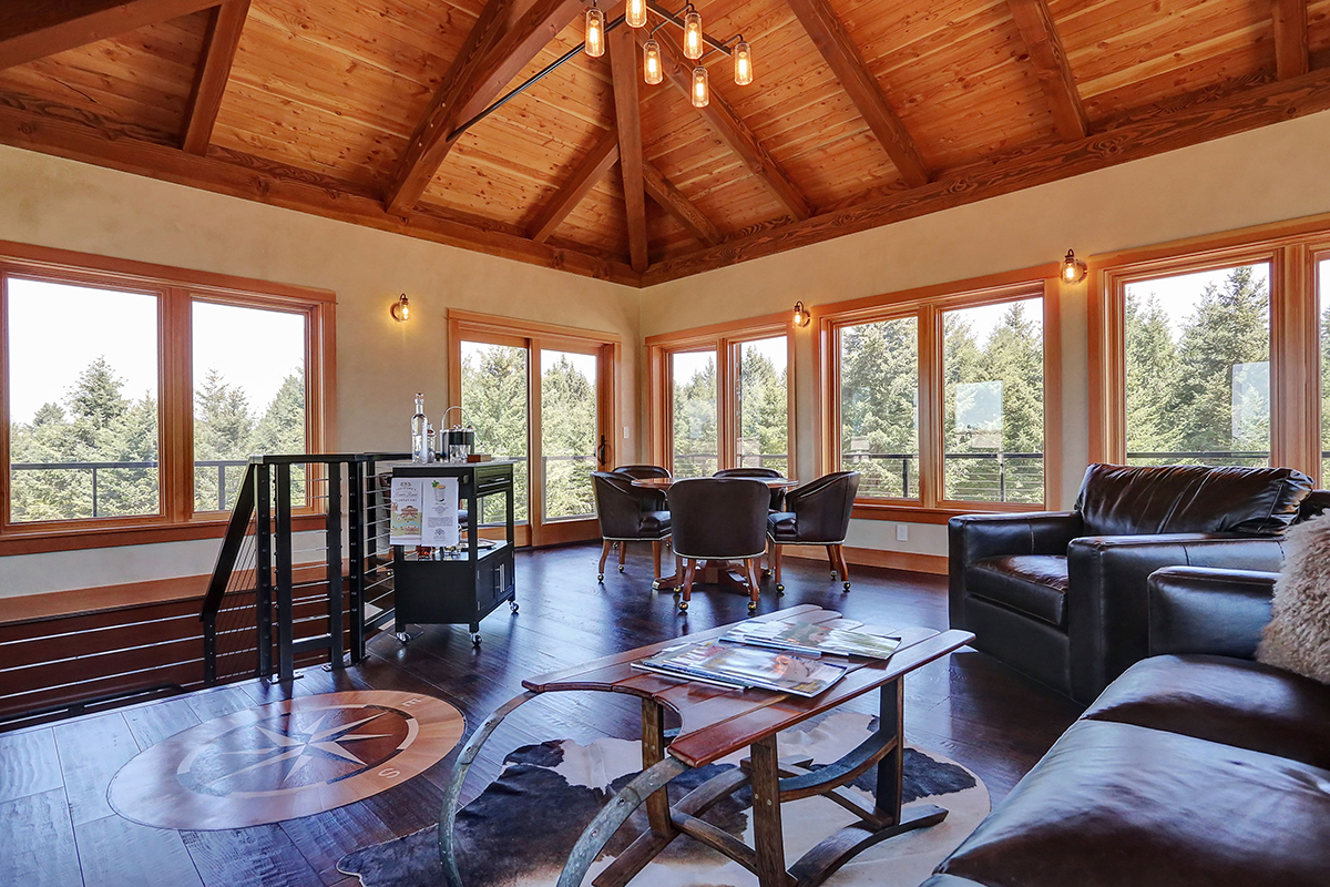 New Energy Works Oregon Timber Frame Home with Tower Room