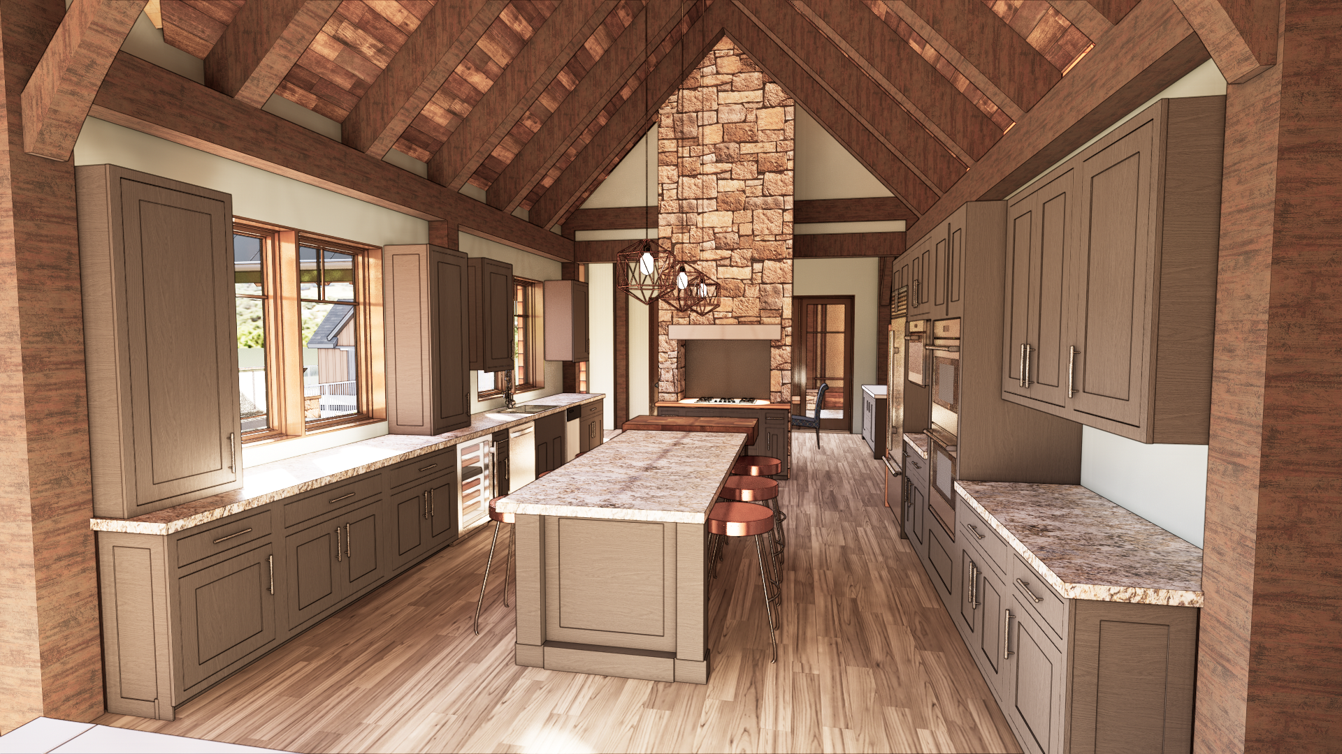 Custom Kitchens created in Design from NEWwoodworks