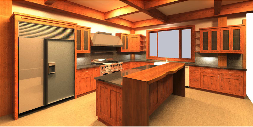 Custom Kitchens created in software to help our craftsmen