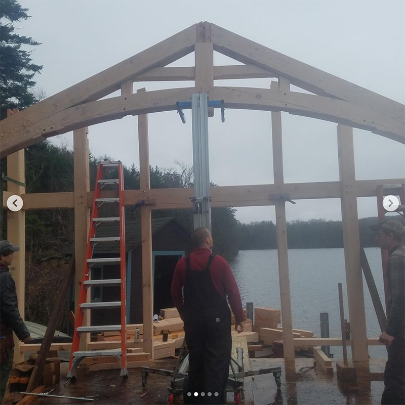 Timber Frame In the Adirondacks