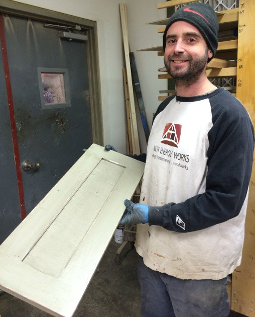 Hans, the NEWwoodworks finishing expert, shared the results of a multi-step finish on an oak cabinet door.