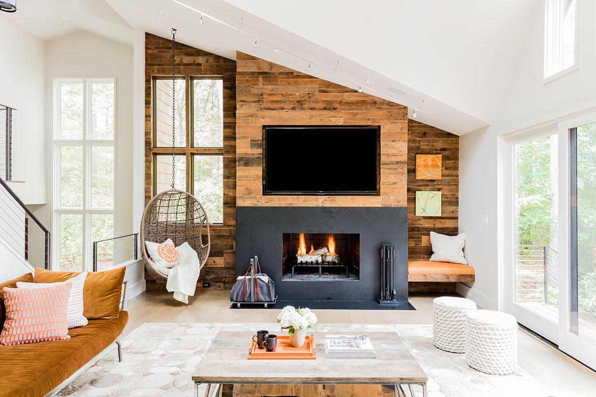Located in Sherborn this is another project by Jennifer Palumbo Inc. showcasing casual living.