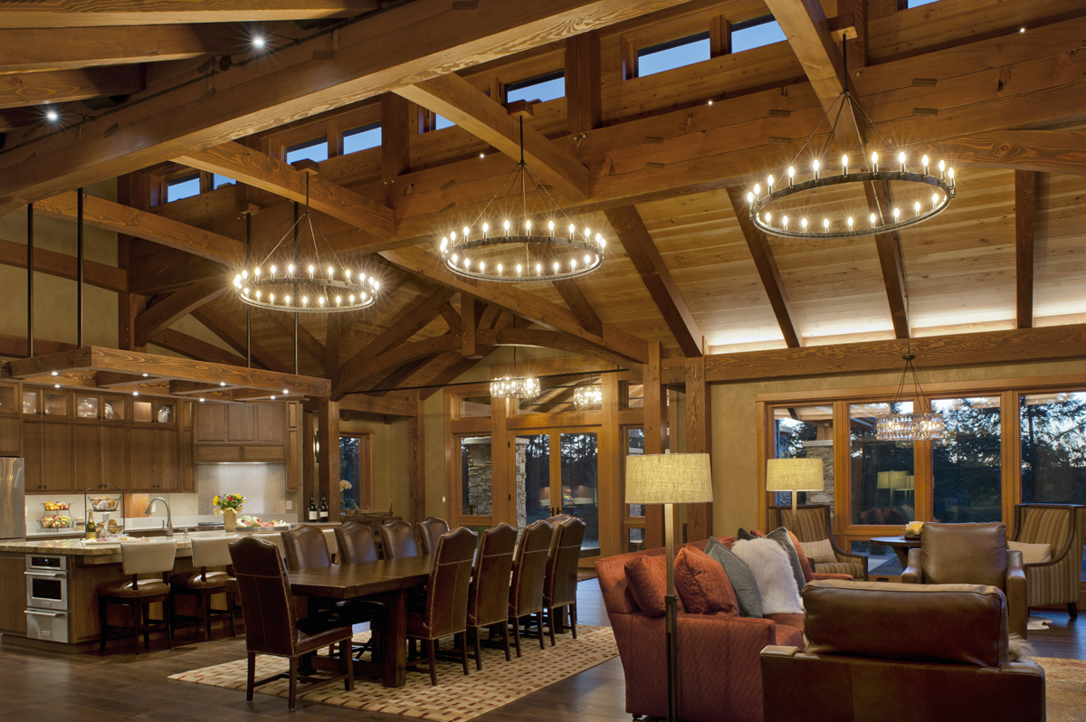 New Energy Works Oregon Timber Frame Home with Keyed Beam