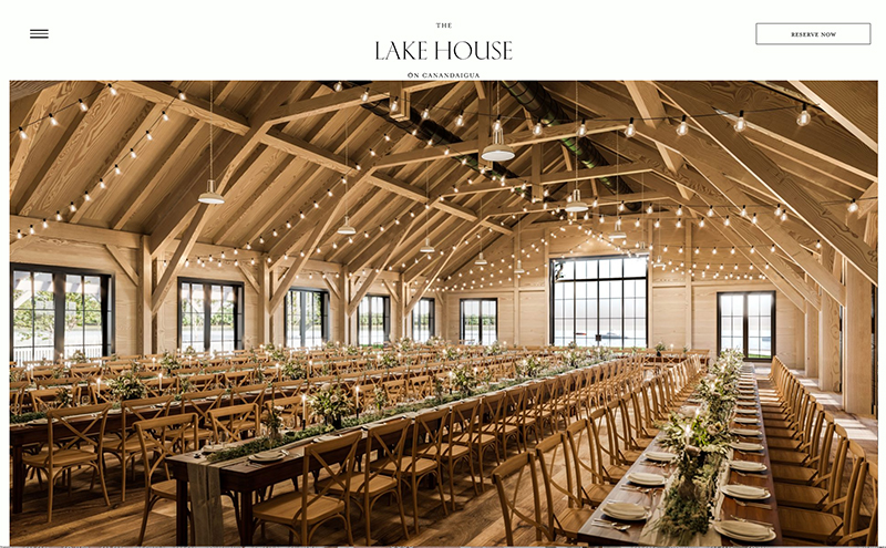 The Lake House event space in Canandaigua, NY—Timber Frame and Enclosure by New Energy Works