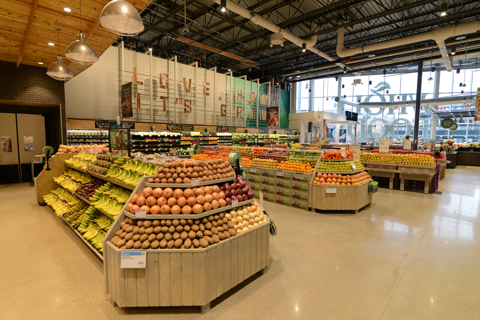 If you're not familiar with Whole Foods, they're an award-winning national grocer with solid ethos and product focus on natural and organic foods. The stores are an experience, each one unique–any chance we have to visit one, we take it!
