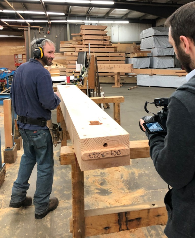 Some of our craftsmen have been on camera while working on the LNB frame. More to come on this fun happening!