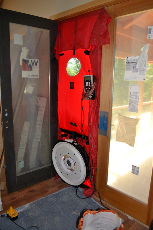 Blower Door test in action