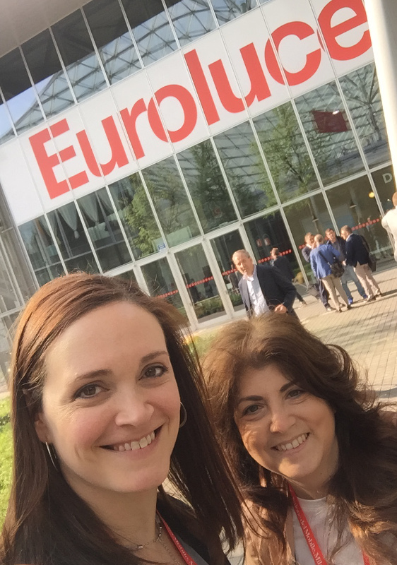 Christine and Carol enjoyed Euroluce show in Milan last year and are already thinking a return trip is needed!