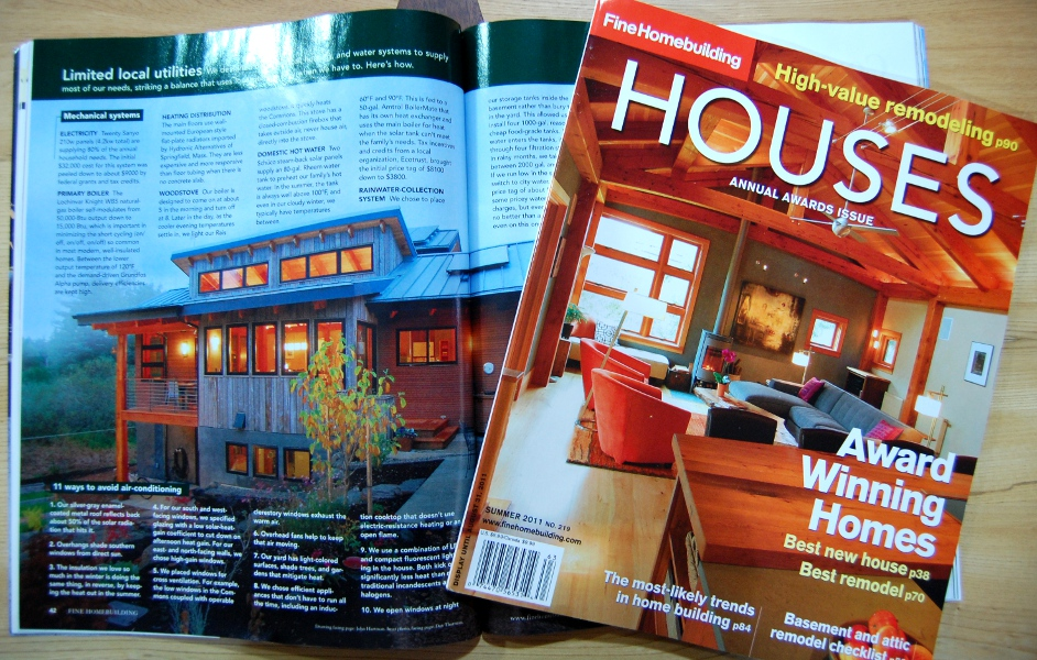The Vermont Street Project as featured in Fine Homebuilding Magazine's HOUSES.