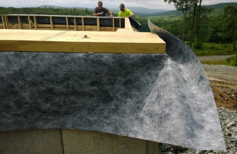 A 'floppy bit' during installation between levels of a family home in the Hudson Valley.