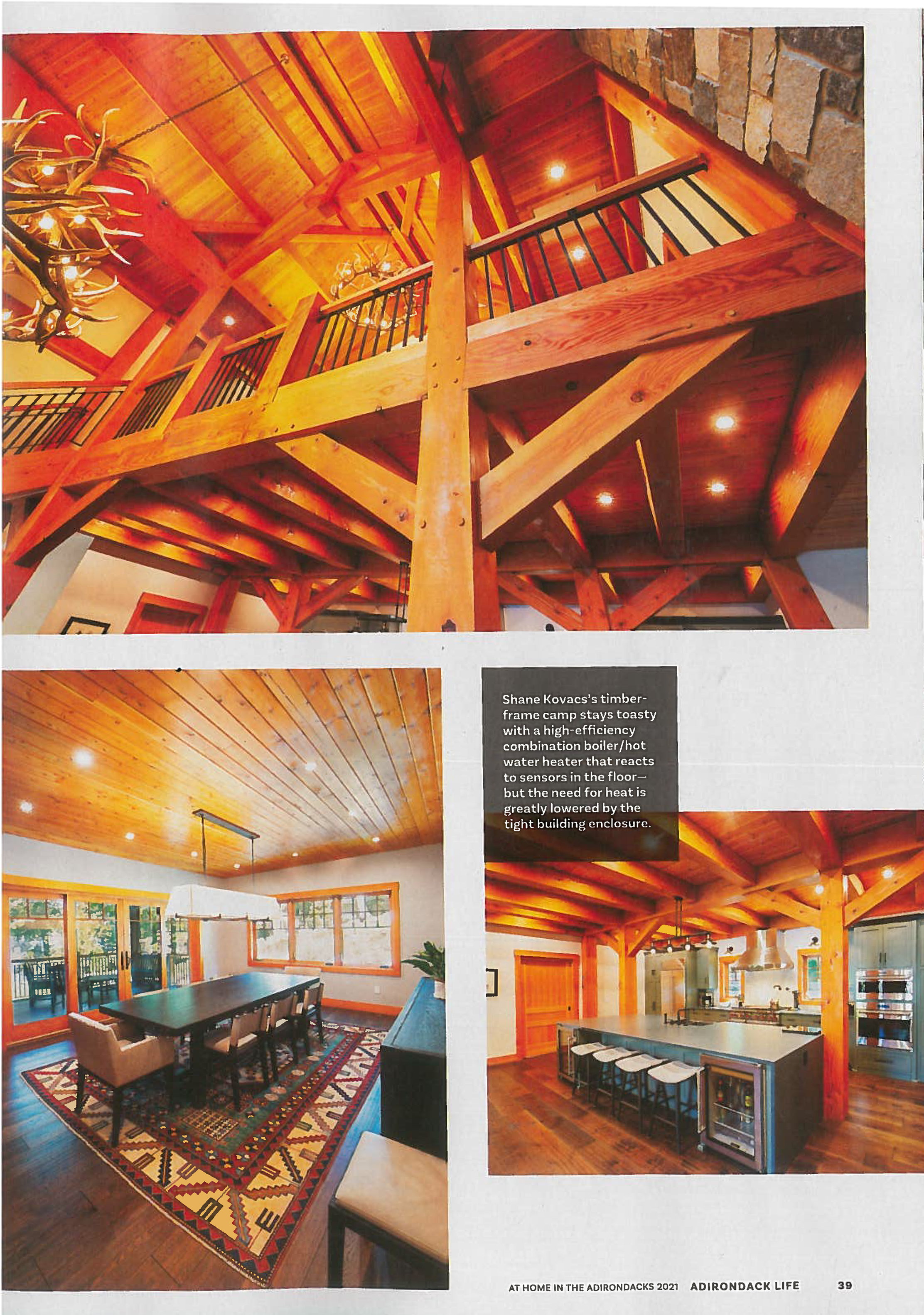 HKK Project for Kovacs featured in Adirondack Life 2021