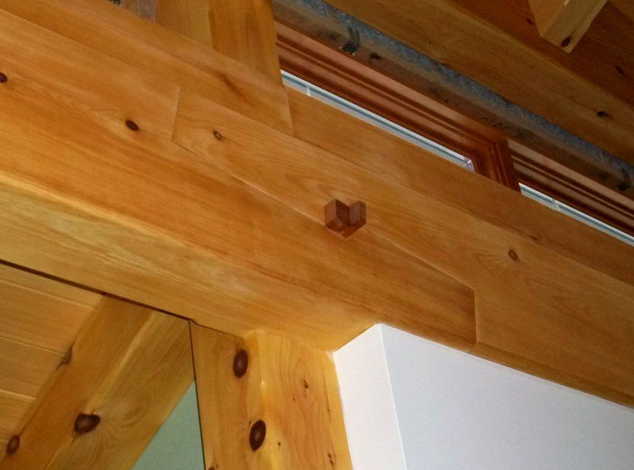 Traditional scarf joint with a walnut key.