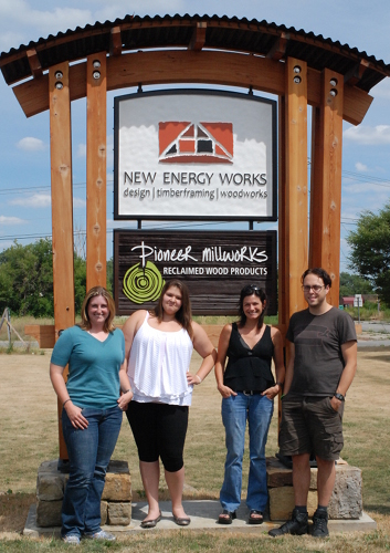Here we are on my last day under the big entrance sign. The folks behind the scenes. From left to right: Megan, Me (Erica), Jennifer, and Craig.