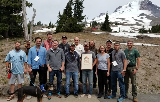 Many of our coworkers joined the Timber Framers Guild annual Western Conference in May. From the left: Mike W, Eric, Michael H, Justin, Simon, Sean, Chuck, David, Mike R, Maxine, Jonathan O, Jonathan T, and Alexander (plus Darren (yep, that'd be me) behind the camera). Mike W, Sean, Jonathan, and I hosted different educational presentations during the conference.