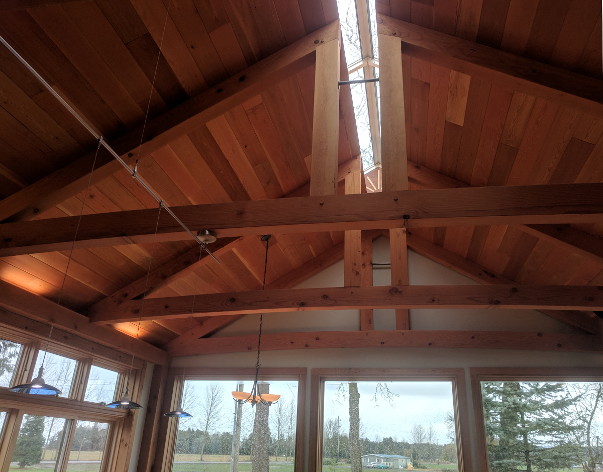 Inside the NEW Jewel a ridge skylight allows natural light to filter in throughout the home.