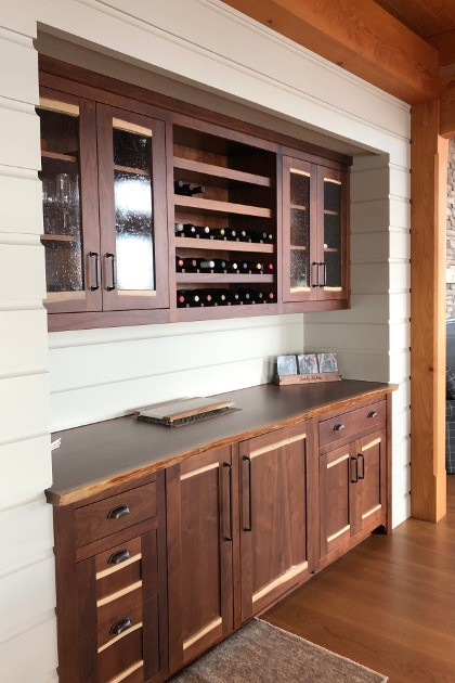 NEWwoodworks applies the same level of craftsmanship and planning to their built-ins and kitchens as they do to their fine furniture and custom doors.