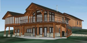The Olsen family's reclaimed Douglas fir timber frame home will be raised this Summer. Timber Home Living Magazine will cover the story of this home from ground breaking to completion.
