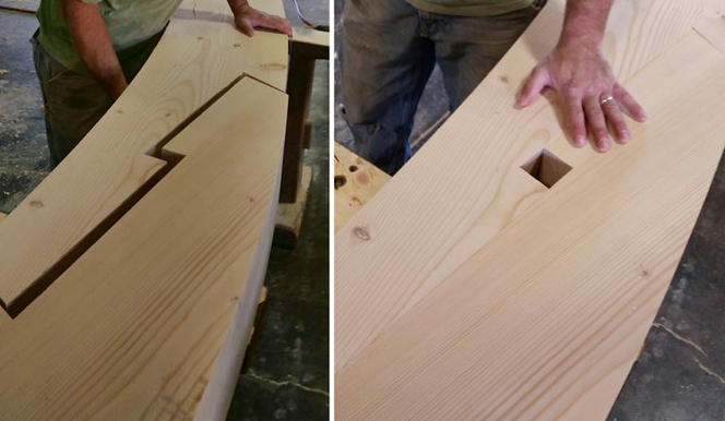 Scarf joint assembly.