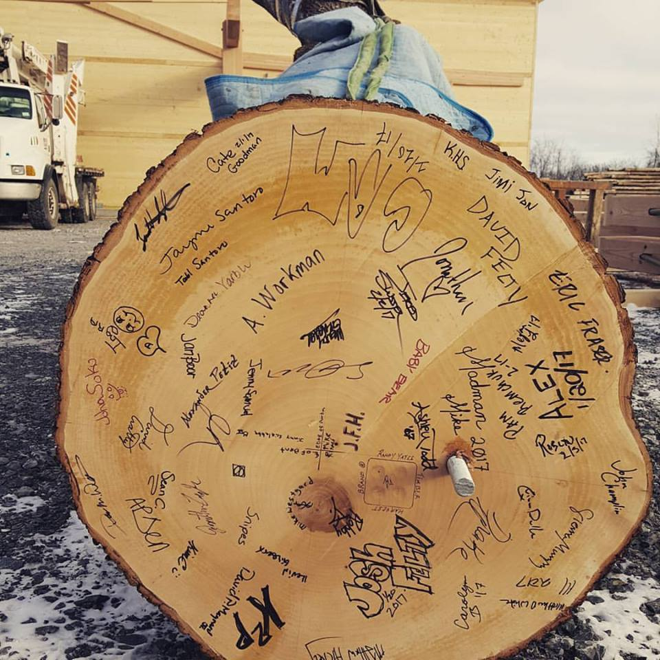 Our McMinnville and Portland OR teams, as well as our Farmington NY teams, signed the base of Atlas prior to raising.