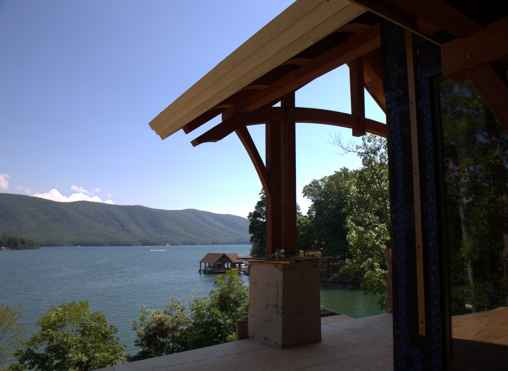 Lake and mountain views captured from the main porch.