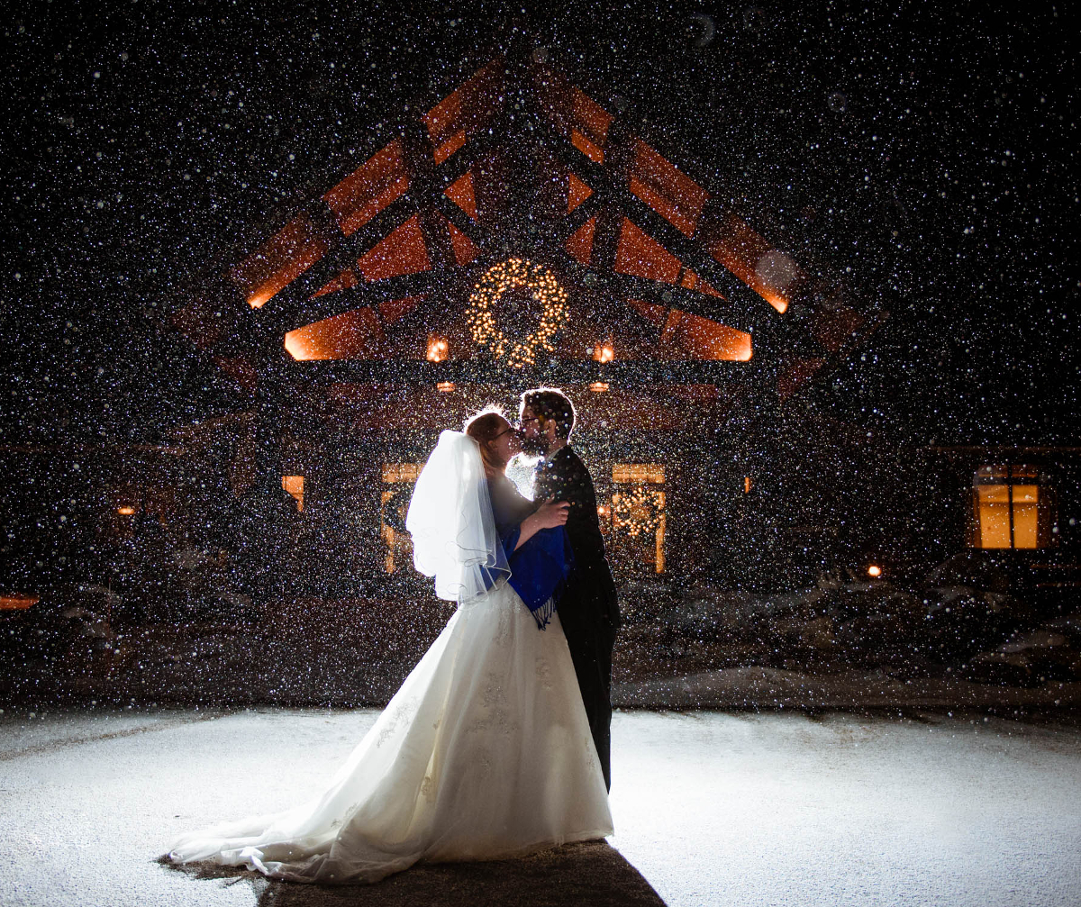Winter created a shimmer of magic for a couple at Deerfield Golf & Country Club.